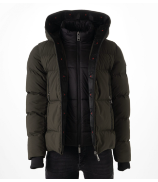AB LIFESTYLE HOODED DOWN JACKET GREEN