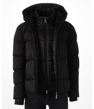 AB LIFESTYLE HOODED DOWN JACKET BLACK