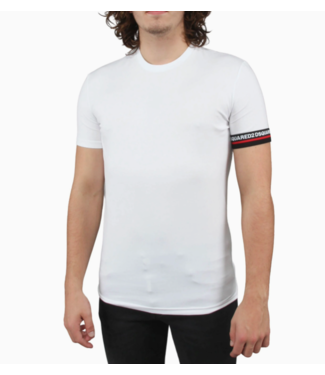 DSQUARED2 SLEEVE LOGO T-SHIRT WHITE