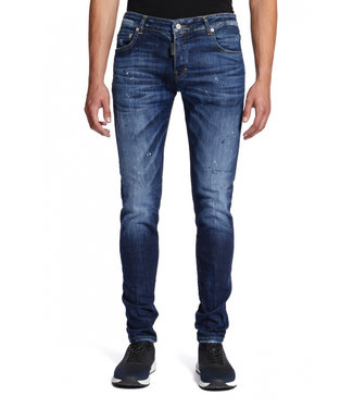 MY BRAND BLACK SPOTTED JEANS BLUE