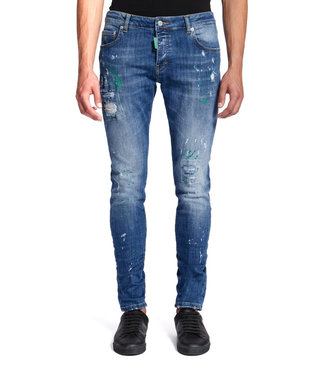 MY BRAND MY BRAND DENIM DARK GREEN SPOTTED JEANS