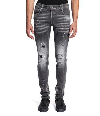 MY BRAND WHITE SPOTTED JEANS GREY