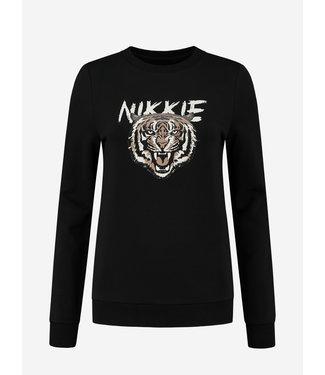 NIKKIE LOGO TIGER SWEATER