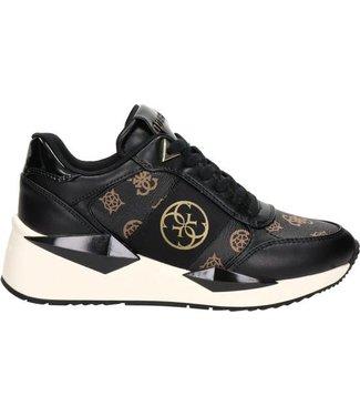 GUESS Tesha sneaker met logoprint  zwart