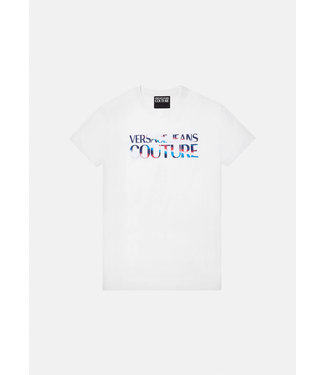 VERSACE JEANS COUTURE COLORFUL LOGO T-SHIRT