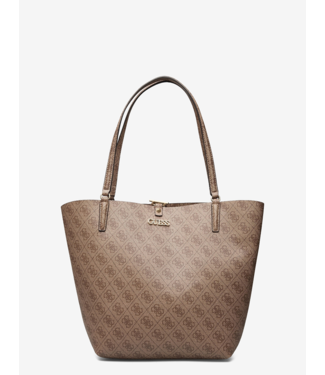 GUESS TOGGLE TOTE LATTE LOGO