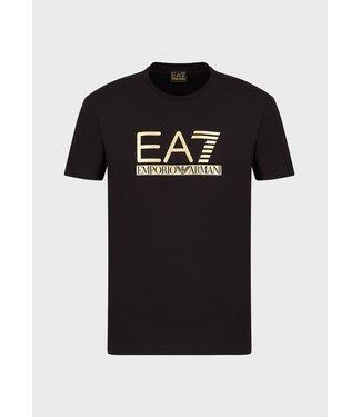 EA7 ARMANI JERSEY T-SHIRT BLACK/GOLD