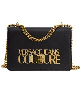 VERSACE JEANS COUTURE LOGOLOCK SMALL SS21 BLACK