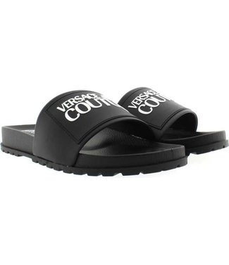 VERSACE JEANS COUTURE SLIPPERS FONDO SS21 BLACK