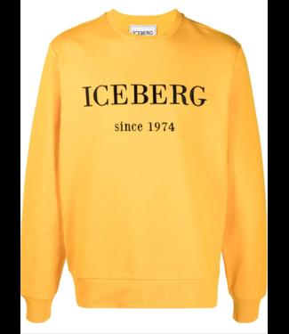 ICEBERG Classic yellow  marl Iceberg sweater SS21
