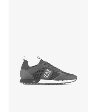 EA7 ARMANI sneakers in mesh with metallic details on the sole Black&White
