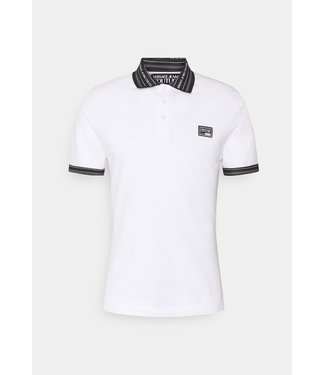 VERSACE JEANS COUTURE POLO WIT/ZWART  SS21