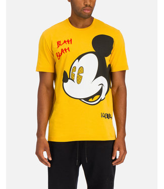 ICEBERG YELLOW ICEBERG T-SHIRT WITH LARGE MICKEY MOUSE GRAPHIC
