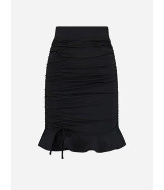 NIKKIE Suzy ruched skirt black