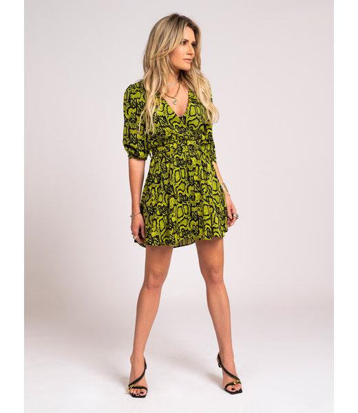 SNAKEY DRESS POISON GREEN
