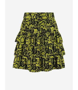 NIKKIE Snakey skirt poison green