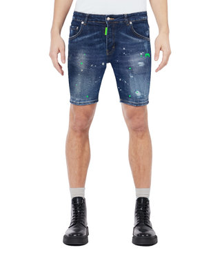 MY BRAND NEON GREEN DISTRESSED SHORTS