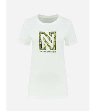 NIKKIE Snakey logo t-shirt white
