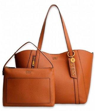 GUESS Naya shopper bag Congac
