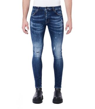 MY BRAND Black blue spots denim jeans