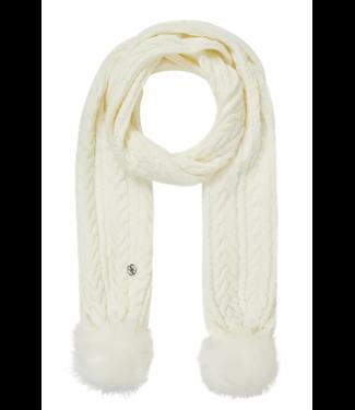 GUESS Sjaal met kabelpatroon off-white