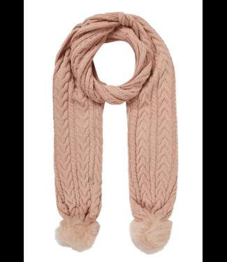 GUESS Sjaal met kabelpatroon oud roze