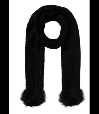GUESS Sjaal met kabelpatroon zwart