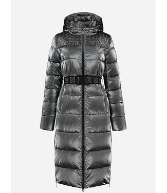 NIKKIE Anna metallic puffer coat