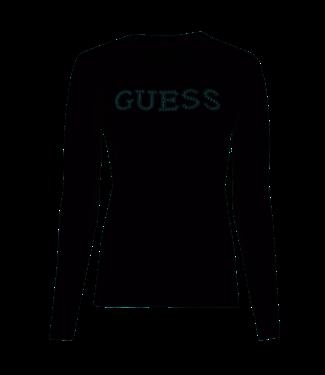 GUESS Sweatshirt zwart pailletten logo