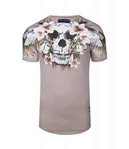 RELIGION T-SHIRT TROPICAL SKULL CURVE