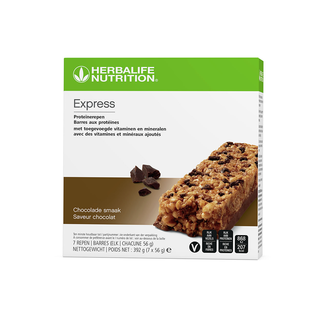 Express Proteïnereep chocolade 392 g- doos van 7 repen