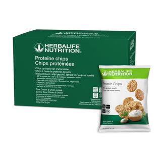 Herbalife Proteïne chips  Sour Cream &Onion smaak 10 zakjes van 30 gr