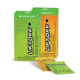 Herbalife Lift Off verfrissende Energiedrank Citroen- Limoen Doos van 10 bruistabletten
