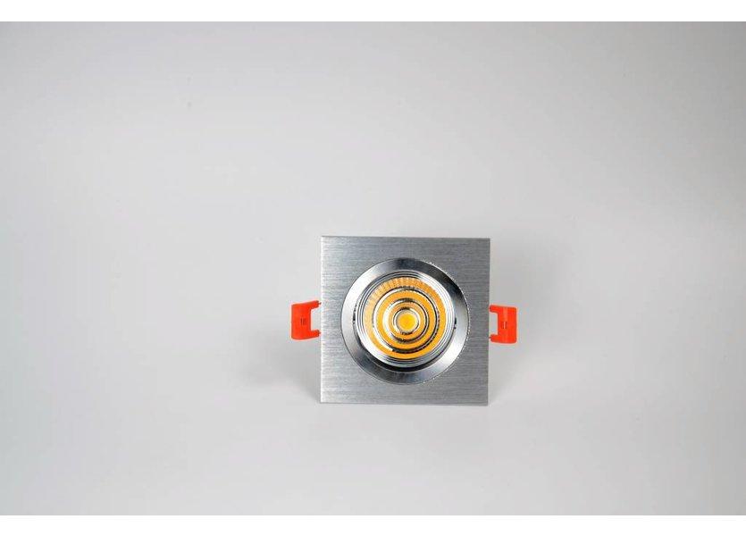 Verstelbare vierkante aluminium downlight - Crius