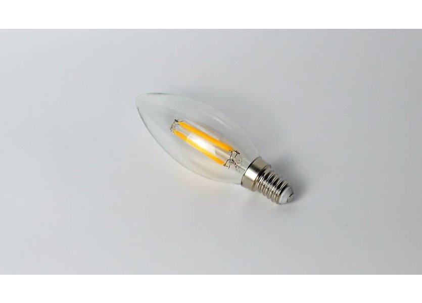 LED filament kaarslamp E14 4W 2700K Dimbaar - Crius