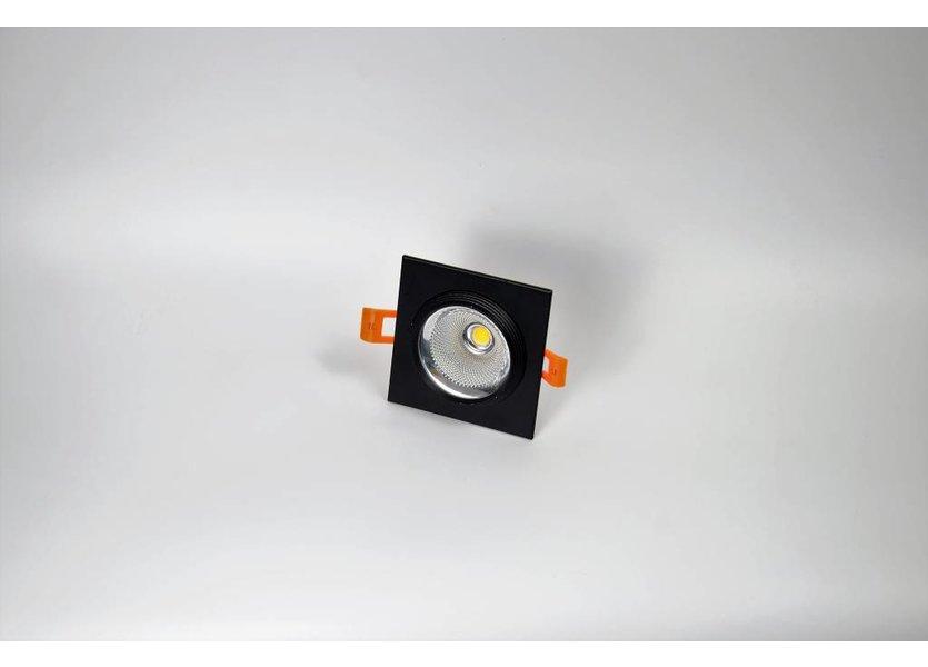 Vierkante zwarte downlight