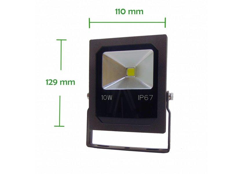 LED Bouwlamp 10 Watt - 4000K (helder wit) - IP67 - Crius