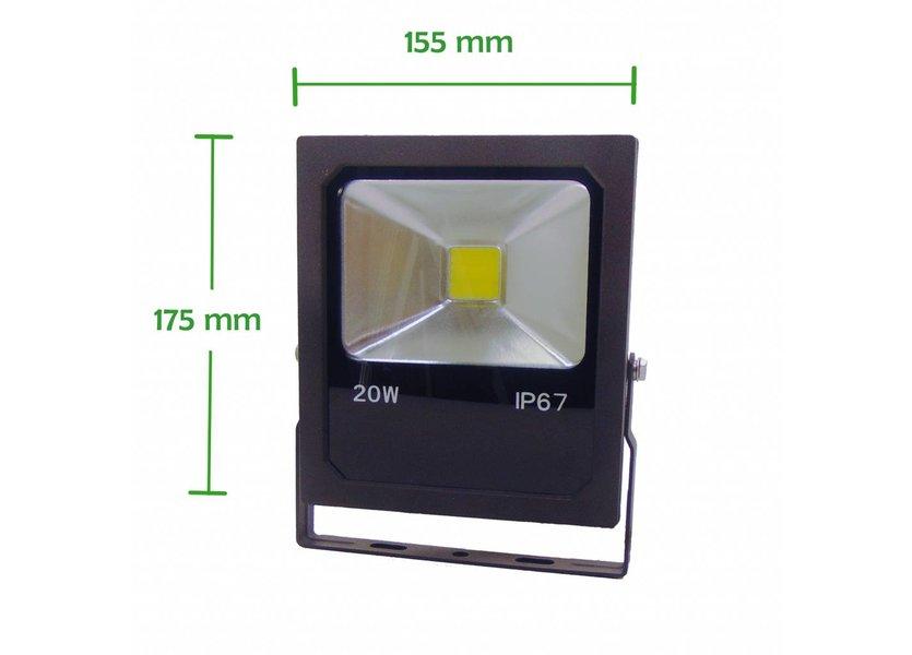 LED Bouwlamp 20 Watt - 4000K (helder wit) - IP67 - Crius