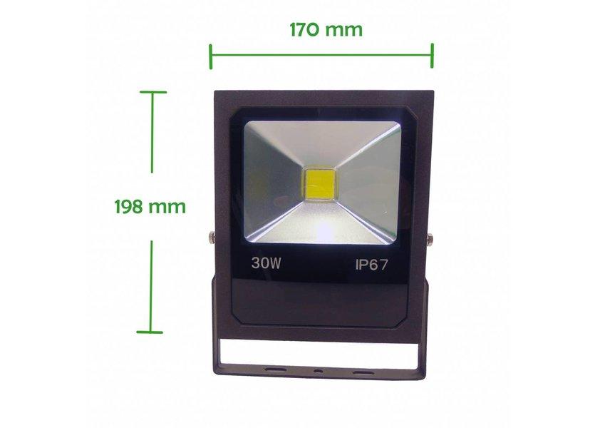 LED Bouwlamp 30 Watt - 4000K - IP67 - Crius