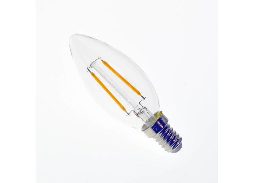 LED filament kaarslamp E14 2W 2700K Dimbaar - Crius