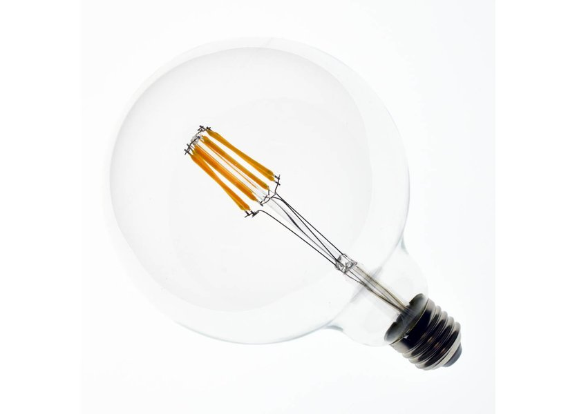 LED filament lamp G125 E27 8 Watt 2700K Dimbaar
