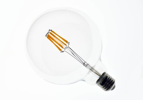 LED filament lamp G125 E27 8 Watt 2700K Dimbaar