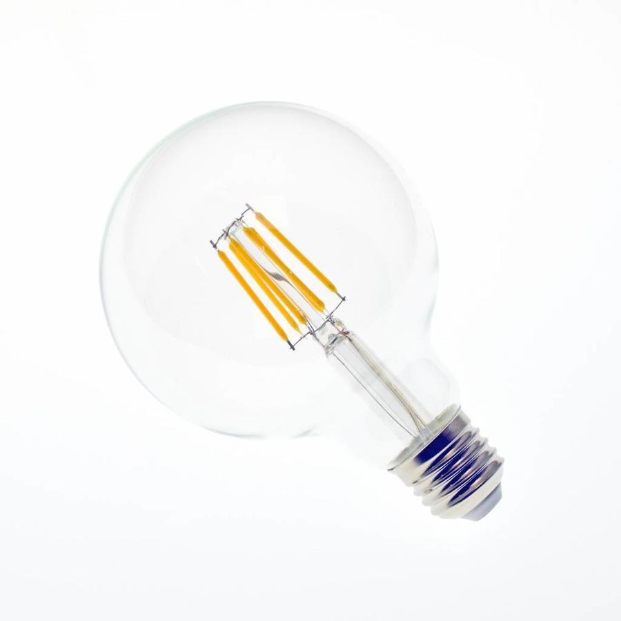 LED filament lamp G95 E27 6 Watt 2700K Dimbaar