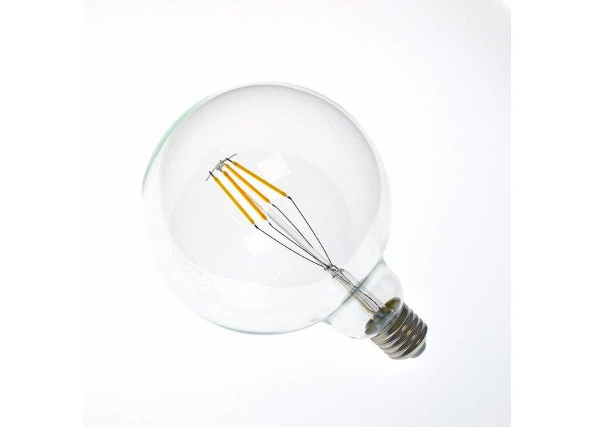 LED filament lamp G125 E27 4 Watt 2700K Dimbaar