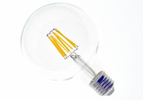 LED filament lamp G95 E27 8 Watt 2700K Dimbaar