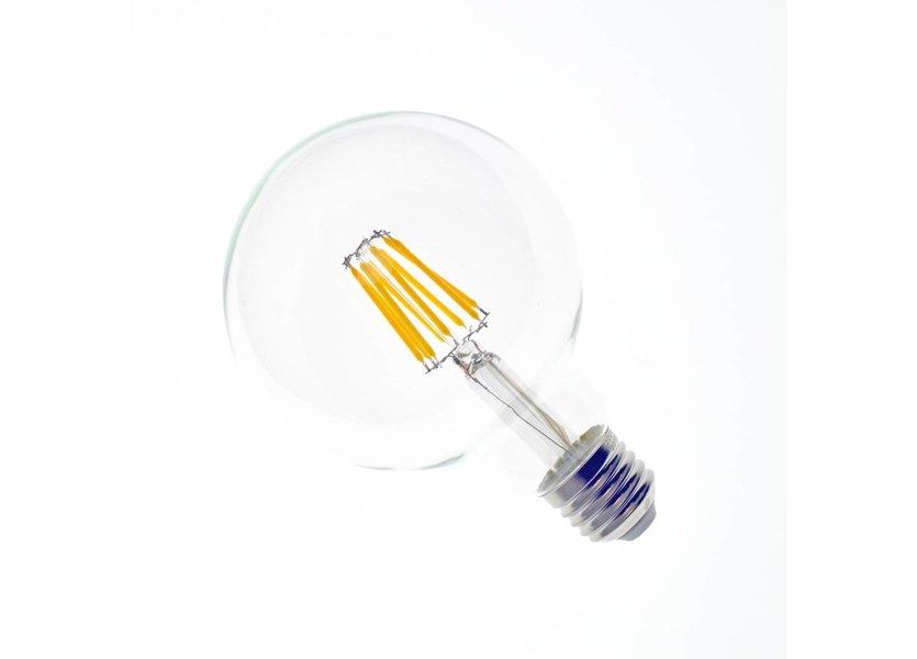 LED filament lamp G95 E27 8 Watt 2700K Dimbaar