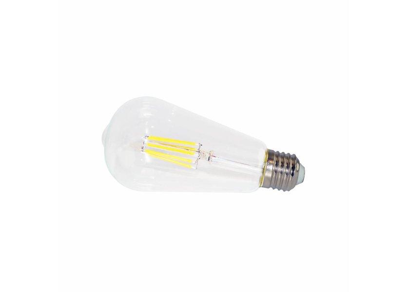LED filament lamp ST64 E27 6 Watt 2700K Dimbaar
