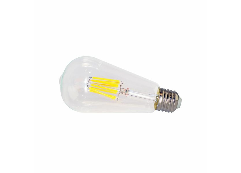 LED filament lamp ST64 E27 8 Watt 2700K Dimbaar - Crius