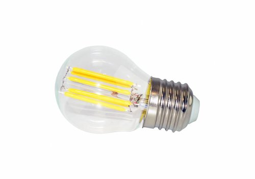 LED filament lamp G45 E27 6 Watt 2700K Dimbaar