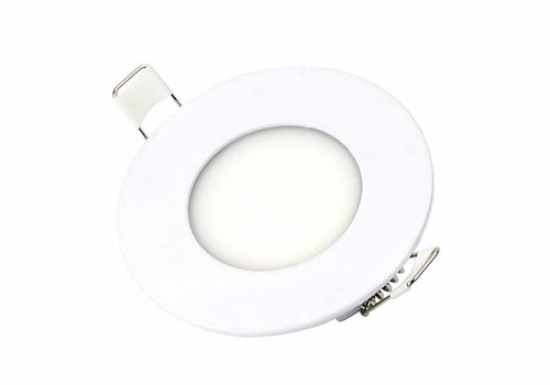 Ronde LED inbouwspot Ø85 mm - 3 Watt - 3000K